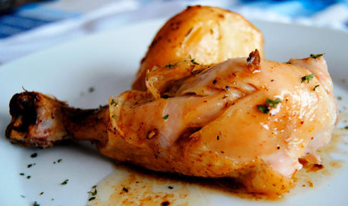 Pollo al horno al limon light