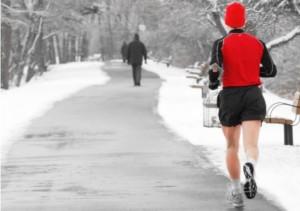 Corriendo con nieve