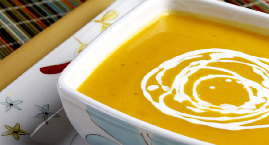 Almuerzo para adelgazar con DietaPack: Crema de Calabaza