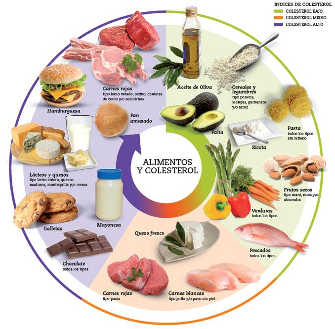 Alimentos y colesterol