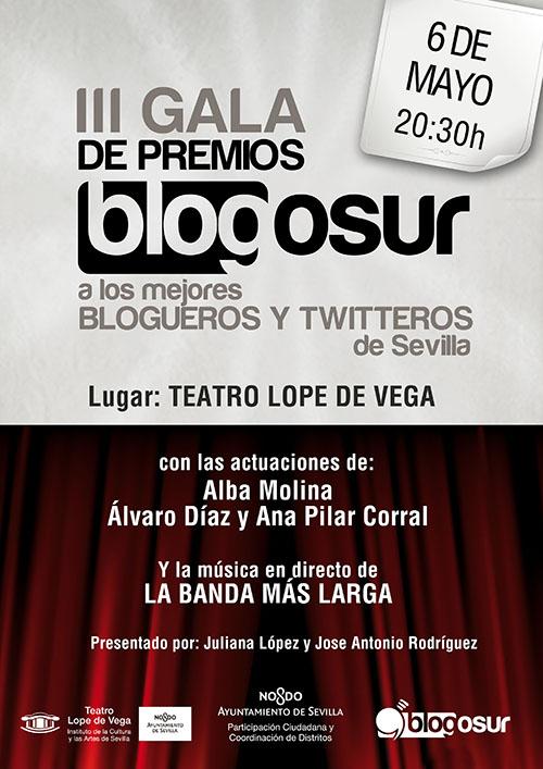 Hoy estaremos en la III Gala de los Premios Blogosur