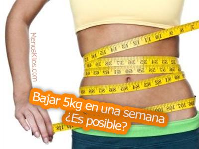 Bajar 5 kilos en una semana