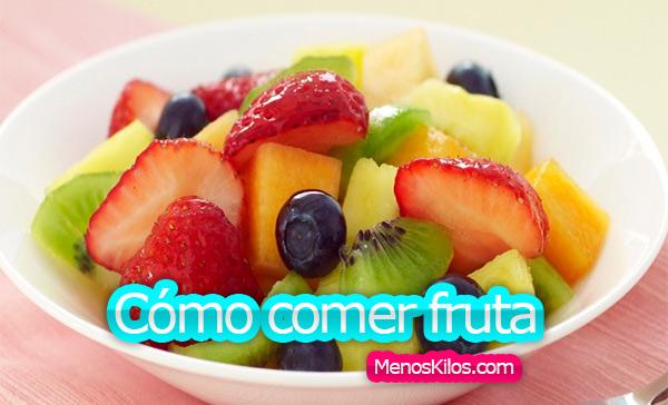 Cómo comer frutas