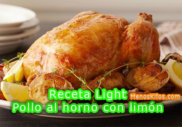 Receta Light Pollo al horno con limón