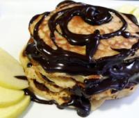 Tortitas de chocolate y frutas